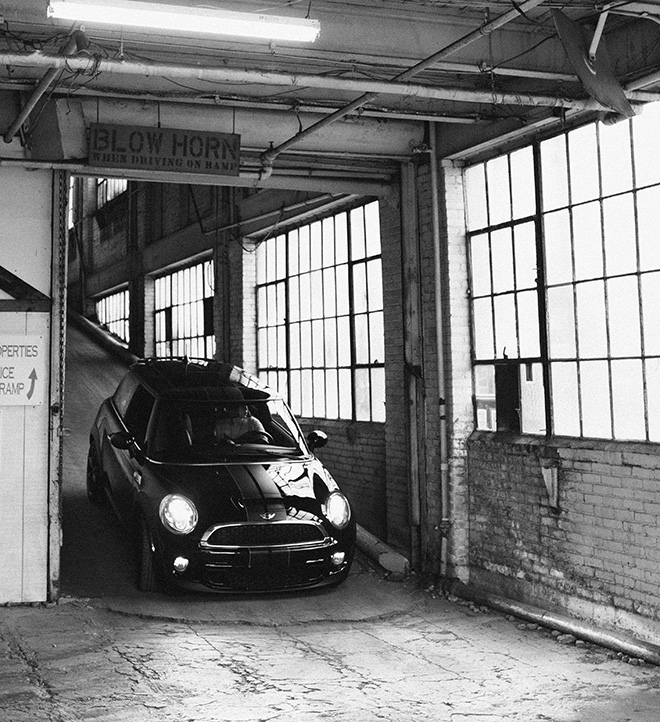 During a photoshoot, we channeled our inner-Italian job. Both Bane and Sgt. Pepper were driven, in reverse, up an access ramp to the second floor of a mixed-use warehouse. (Photo: Khalid Ibrahim, Eat Pomegranate Photography)