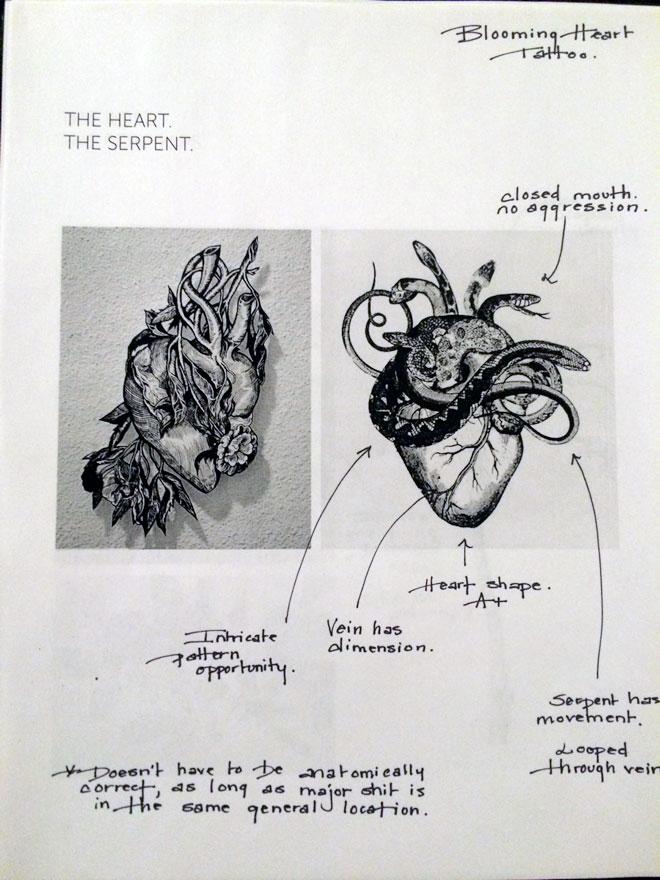 Tattoo notes; 1/4.