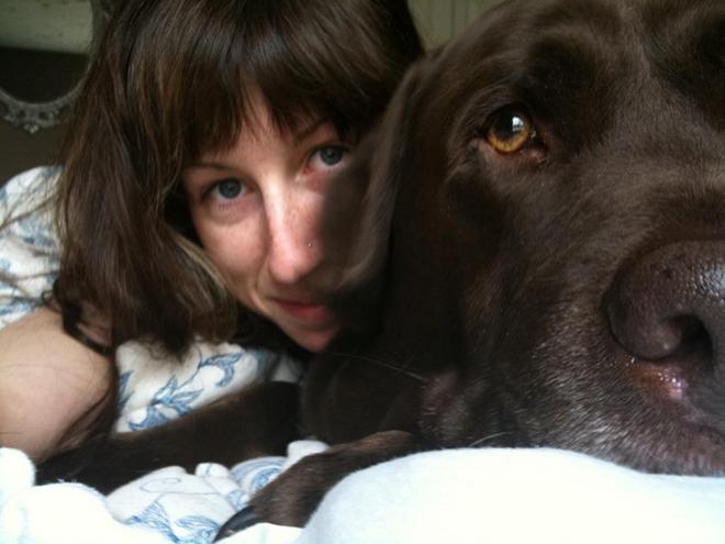 Standard issue post-nap selfie.